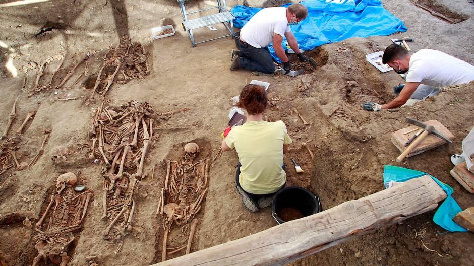 Opfer der Franco-Diktatur werden exhumiert.