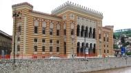 Das Rathaus von Sarajevo am 18. Juni 2014