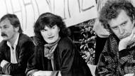 Hubert Kleinert, Bärbel Rust und Thomas Ebermann am 19.11.1987