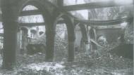 Ruine der Bibliothek von Löwen 1914