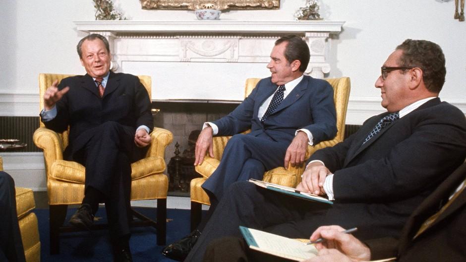 Willy Brandt, Richard Nixon und Henry Kissinger