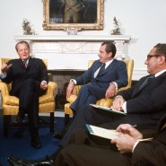 Willy Brandt, Richard Nixon und Henry Kissinger
