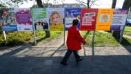 Wahlplakate für die Kommunalwahl am 6. Mai 2013 in Flensburg