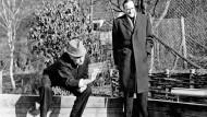 Konrad Adenauer und Monsignore Paul Adenauer