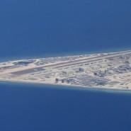 Chinesisches Flugfeld auf der Spratly-Inselgruppe im Jahr 2017.
