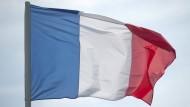 Die Nationalflagge von Frankreich