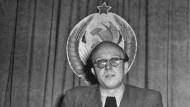 """Chefredakteur der """"Freiheit"""": Horst Sindermann 1950 in Halle"""