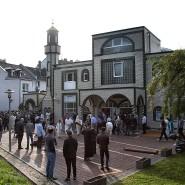 Freitagsgebet in der islamischen Abu Bakr Moschee in Frankfurt/ Main am 1. September 2017.