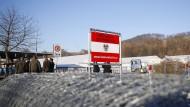 Grenzübergang Spielfeld in Österreich am 7. Dezember 2015