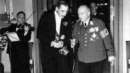 Carl Eduard von Coburg (rechts) mit dem britischen Botschafter Henderson 1939