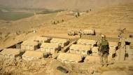 Zelte von Isaf-Soldaten in Afghanistan am 01. Oktober 2011