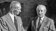 Jan Karski und Dr. Slowikowski während eines Treffens in den 1980er Jahren
