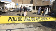 Tatort eines Selbstmordattentäters am 7. März 2016 in Pakistan