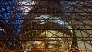 Das im Bau befindliche Hauptquartier des Rats der Europäischen Union am 29.01.2014.