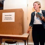 Katharina Schulze am Tag der Landtagswahl 2018