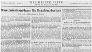 Die dritte Seite der Vossischen Zeitung vom 29. November 1933