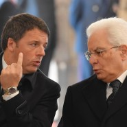 Matteo Renzi und Sergio Mattarella im November im Vatikan