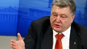 Ukrainischer Präsident wirft Putin Aggression vor