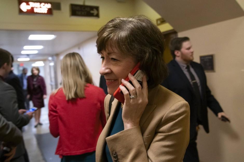 Die republikanische Senatorin Susan Collins: Laut eigenen Aussagen stimmte sie gegen Trumps Erklärung.