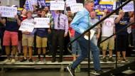 Manchmal auch ohne THC beschwingt: der libertäre Präsidentschaftskandidat Gary Johnson bei einem Wahlkampfauftritt im September