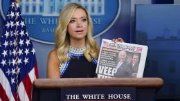 Trump irritiert, das Weiße Haus beschwichtigt