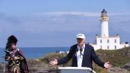 Donald Trump im Juni 2016 auf seinem Golfplatz in Schottland