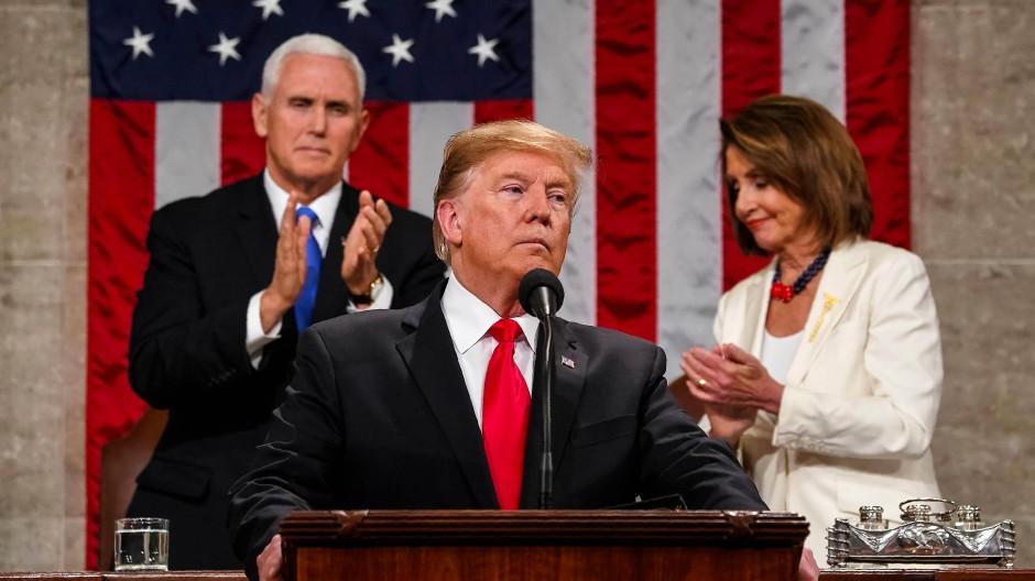 Beharrt weiter auf seinen Plan mit der Mauer: Amerikas Präsident Donald Trump