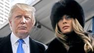 Er, der Bösewicht. Sie, die böse Gattin. Dieses Foto könnte auch aus einem James-Bond-Film stammen.