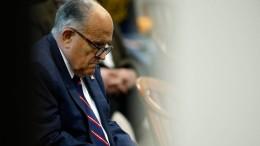 Schadenersatzklage in Milliardenhöhe gegen Trump-Anwalt Giuliani