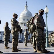 Nationalgardisten am Donnerstag vor dem Kapitol