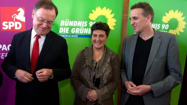 Abschluss der Koalitionsverhandlungen zwischen SPD und Gruenen in Niedersachsen
