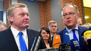Regierung in Niedersachsen steht