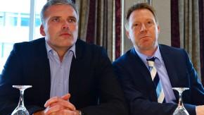 Andreas Bausewein (l.) soll das Amt des SPD-Parteichefs in Thüringen von Christoph Matschie (r.) übernehmen
