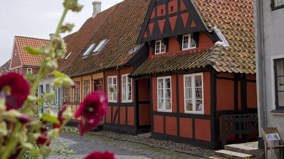 Kuschelig: Fachwerkhäuschen in Ærøskøbing