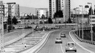 Als die Trabantenstadt noch Utopie war: Fahrt über die Nordweststraße im Jahr 1974.