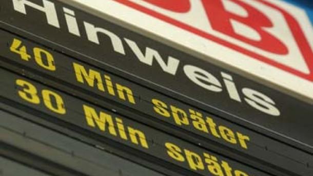 Bahn entschädigt täglich 300 Fahrgäste wegen Verspätungen