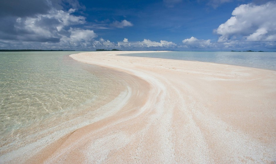 Hier ohne verstärkenden Filter: Pink Sands Beach.