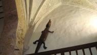 Das eigenartigste Reisesouvenir des Admirals Álvaro de Bazán: Das Krokodil klettert die Wände seines Palastes hinauf wie ein überdimensionaler Gecko.