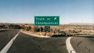 Jetzt rechts abbiegen: Der Ort Truth or Consequences hat viel Umgebung, aber sonst nur wenig zu bieten.