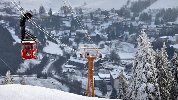 Deutscher Schnee (2): Oberwiesenthal im Erzgebirge