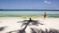 Schön hier. Doch am 26. April müssen alle Touristen ausreisen, denn die Insel macht dicht.