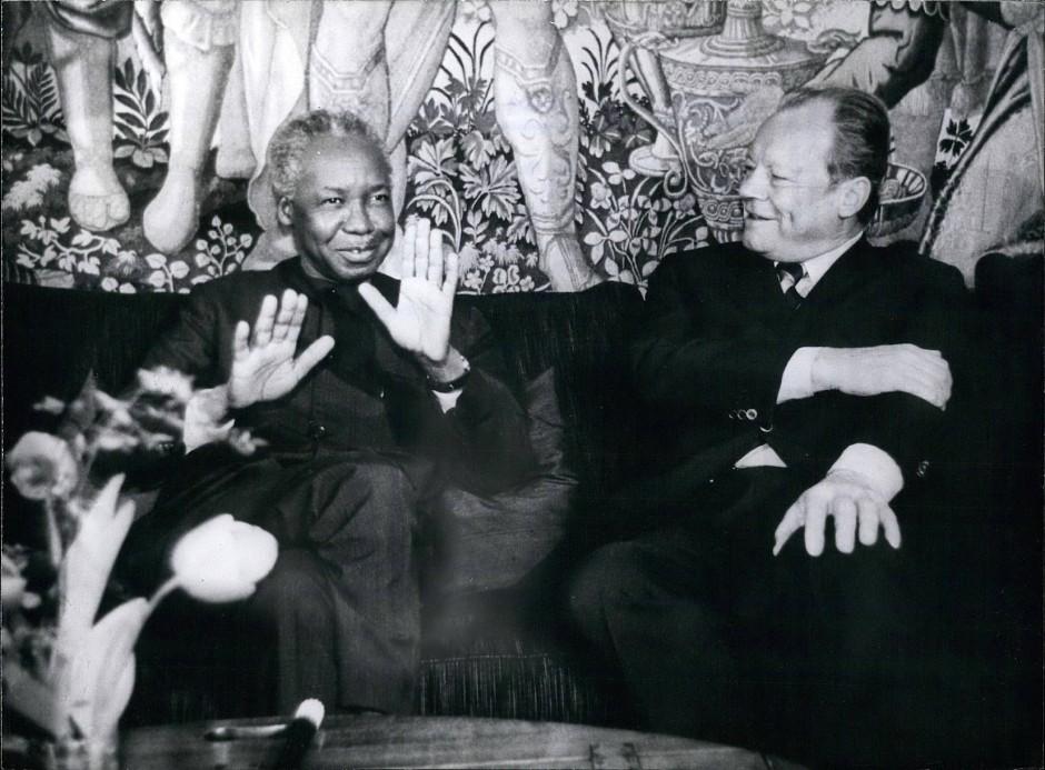 Julius Nyerere auf Staatsbesuch in Deutschland, 1972.