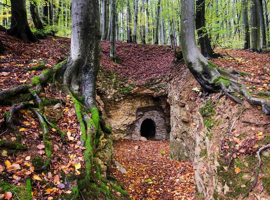 Der Eingang zur Opalmine