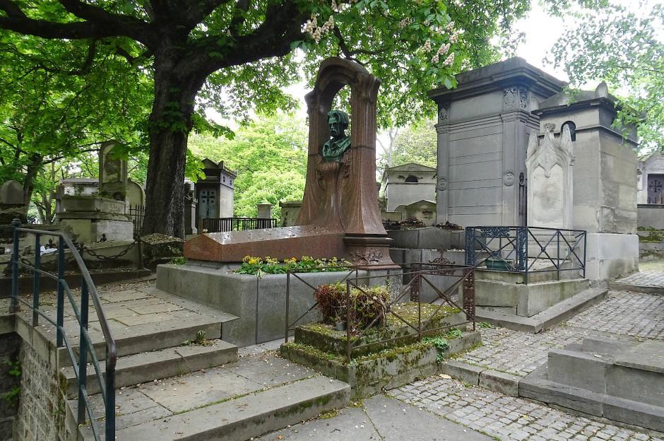 Das Grab des Schriftstellers Emile Zola.
