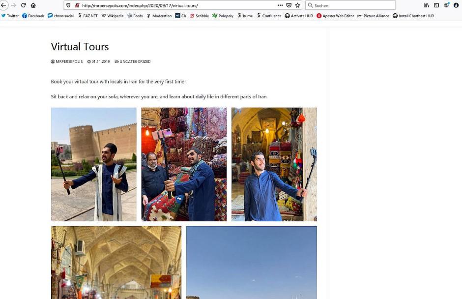 Mit dem Selfie-Stick durch Shiraz mit Mr. Persepolis