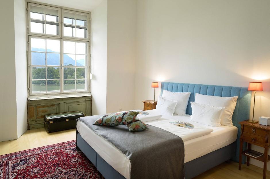 Das Schlafzimmer der Max-Reinhardt-Suite.