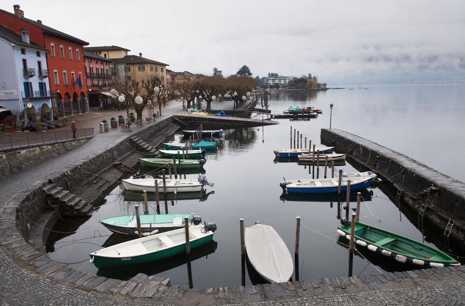 Auch die Weintouristen bleiben aus: Melancholie in Zeiten der Pandemie in Ascona.