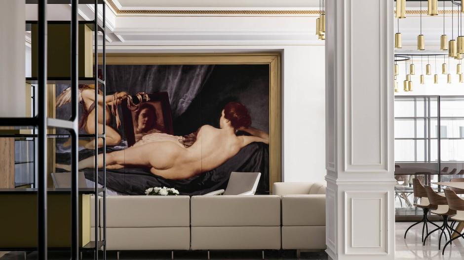 Im Palacio de los Duques verweisen Kunstdrucke auf einstige kunstliebende Vorbesitzer. Zu den Originalen im Prado kommt man leicht zu Fuß.