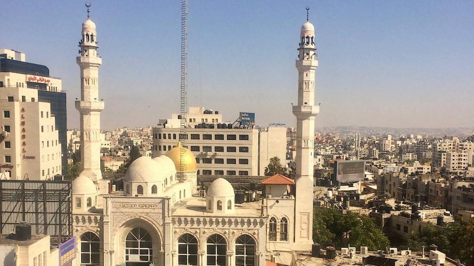 Blick aus dem Hostel Area D in Ramallah.