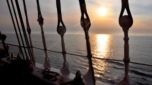 Kein Programm, nur Schiff und Meer
